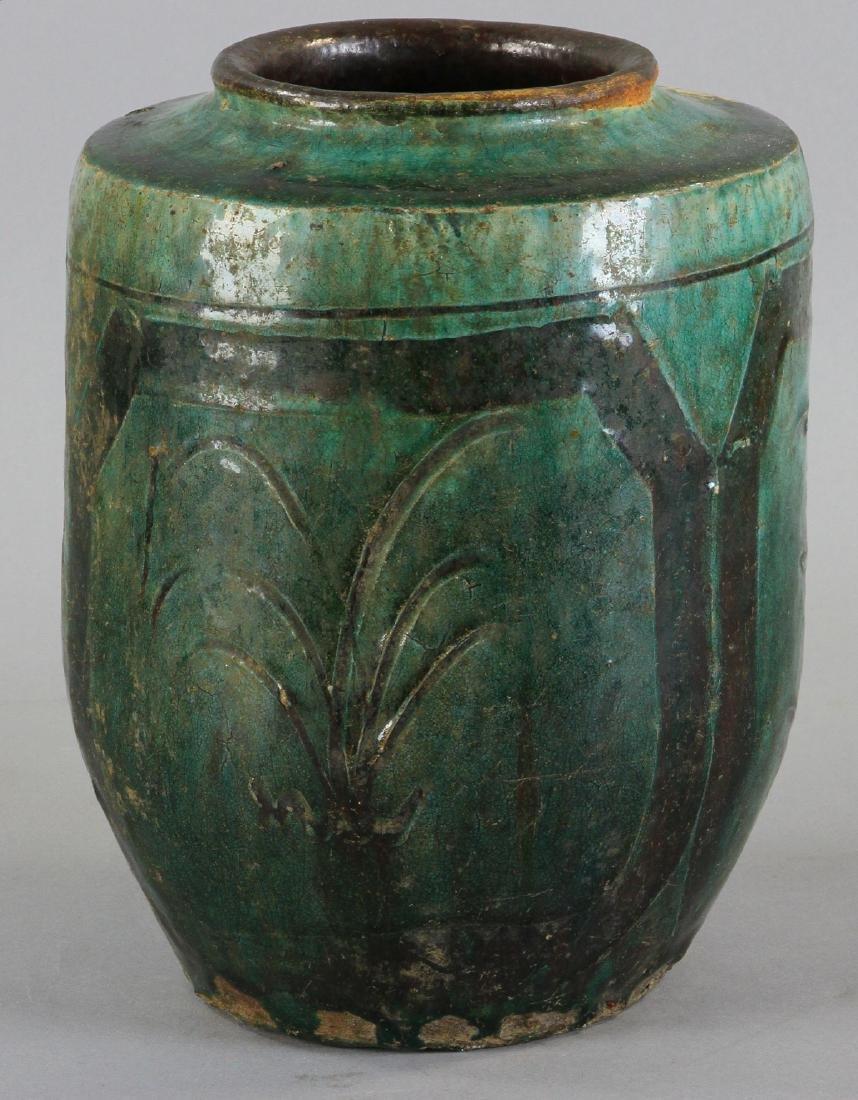 18thC Chinese Glazed Vase - 2