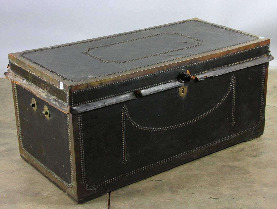 Early 19th C Chinese Camphor Wood Trunk - 7