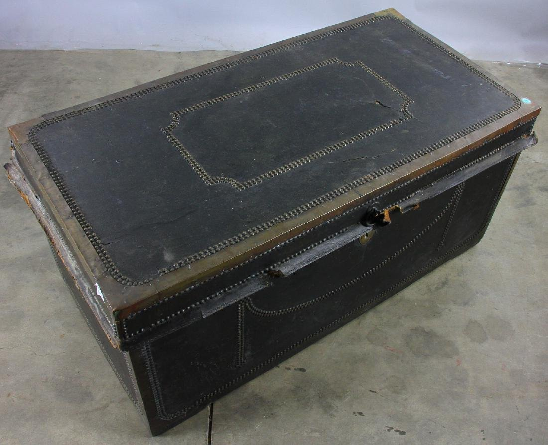 Early 19th C Chinese Camphor Wood Trunk - 8