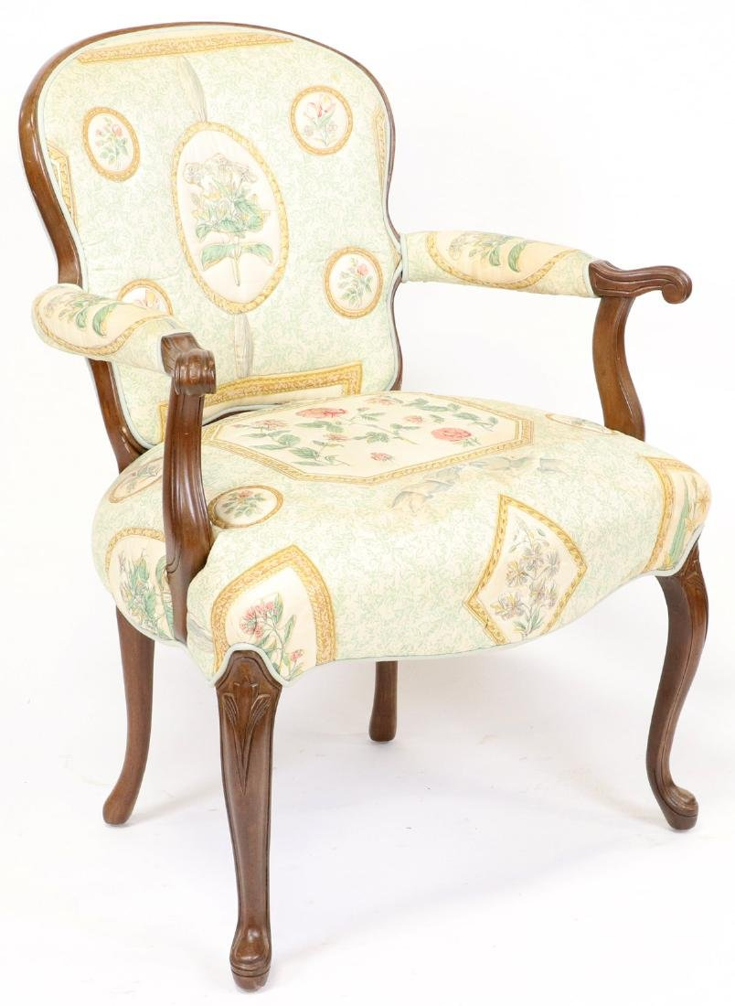 Pair of French Style Upholstered Armchairs - 2