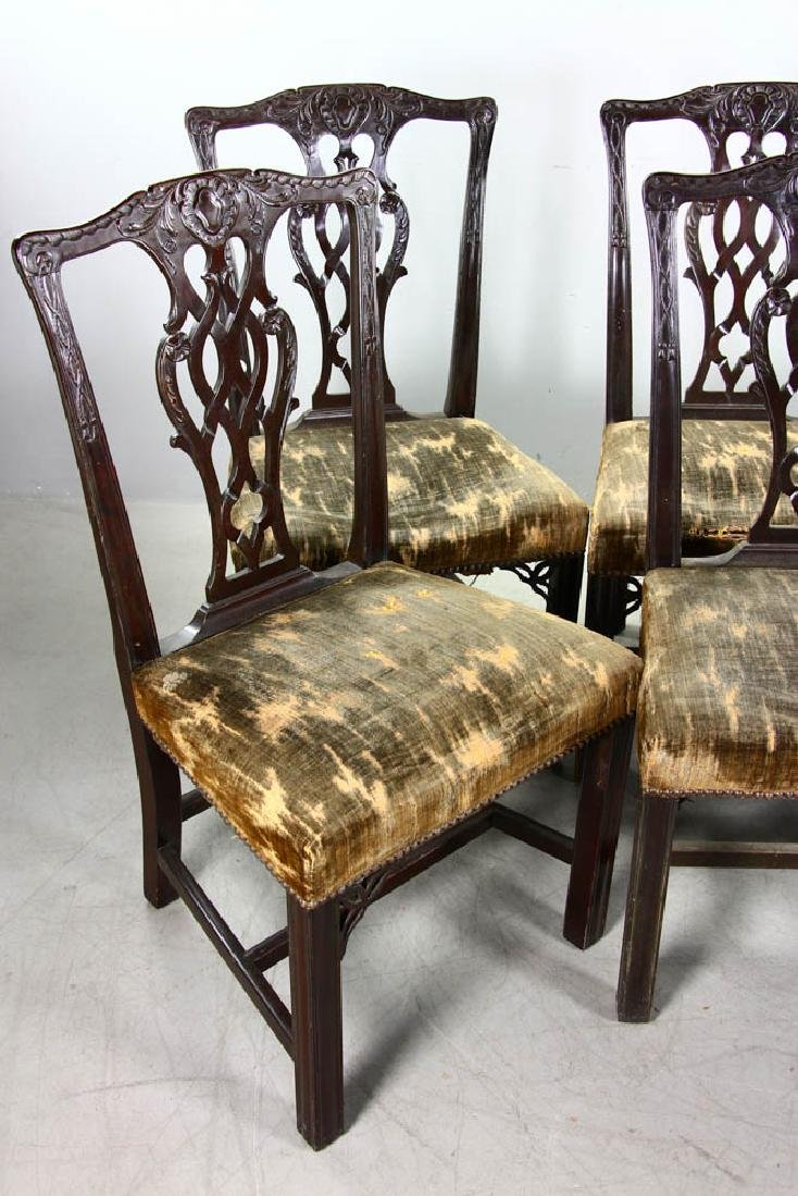 Six 19thC Chippendale-Style Side Chairs - 2