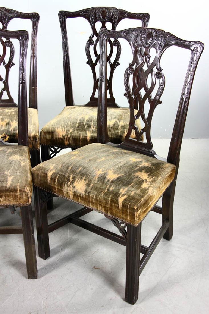 Six 19thC Chippendale-Style Side Chairs - 3