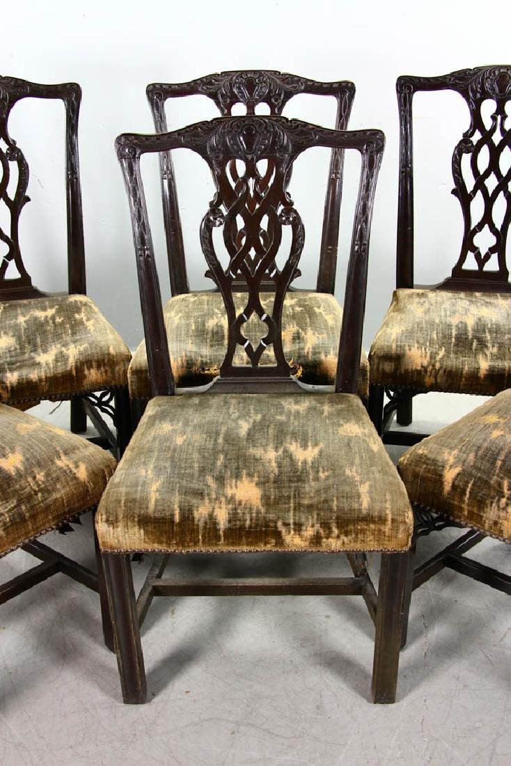 Six 19thC Chippendale-Style Side Chairs - 4