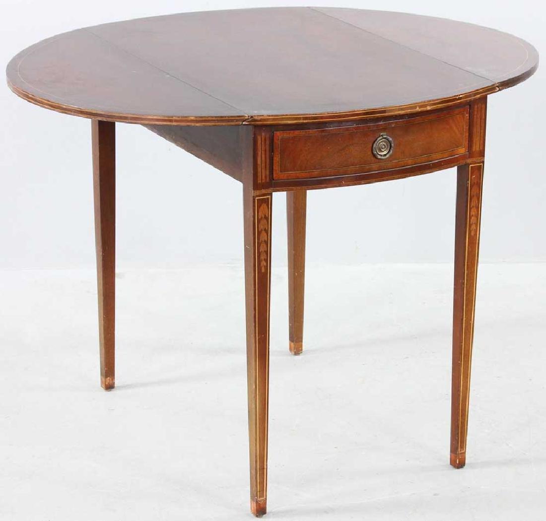 Hepplewhite-style Mahogany Pembroke Table - 6