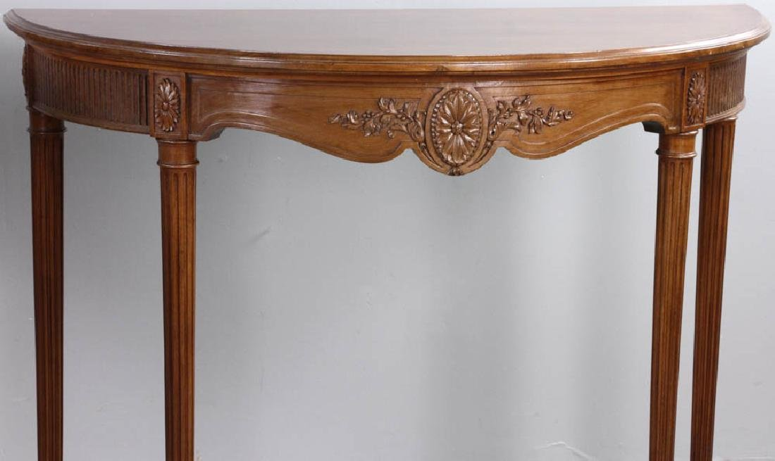 French Louis XVI Style Demi Lune Tables - 6