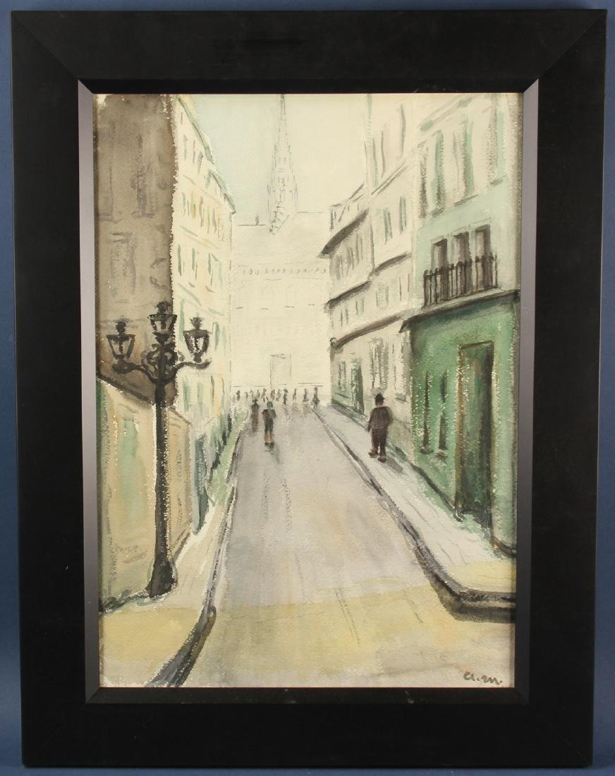 Albert Marquet, Street Scene, Watercolor