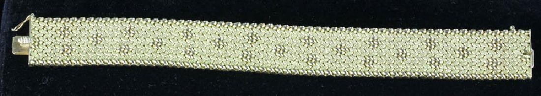 18K Yellow Gold Mesh Bracelet