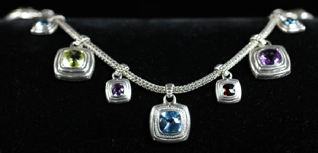 John Hardy Sterling Necklace with Stones