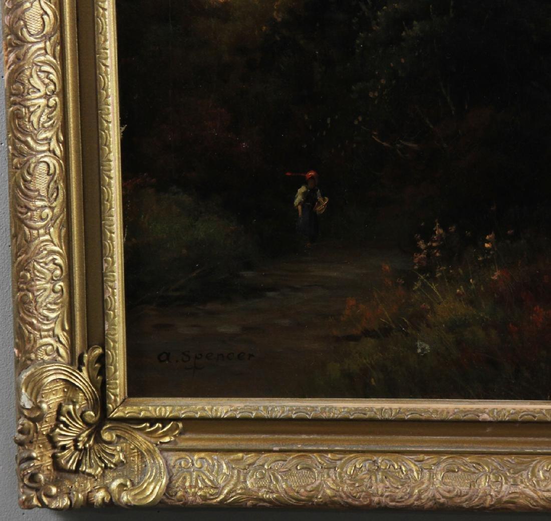 River Landscape, Oil on Canvas, Signed - 3