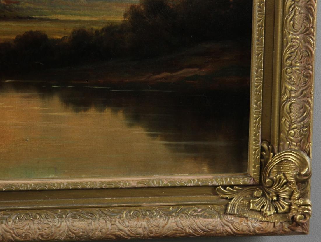 River Landscape, Oil on Canvas, Signed - 4