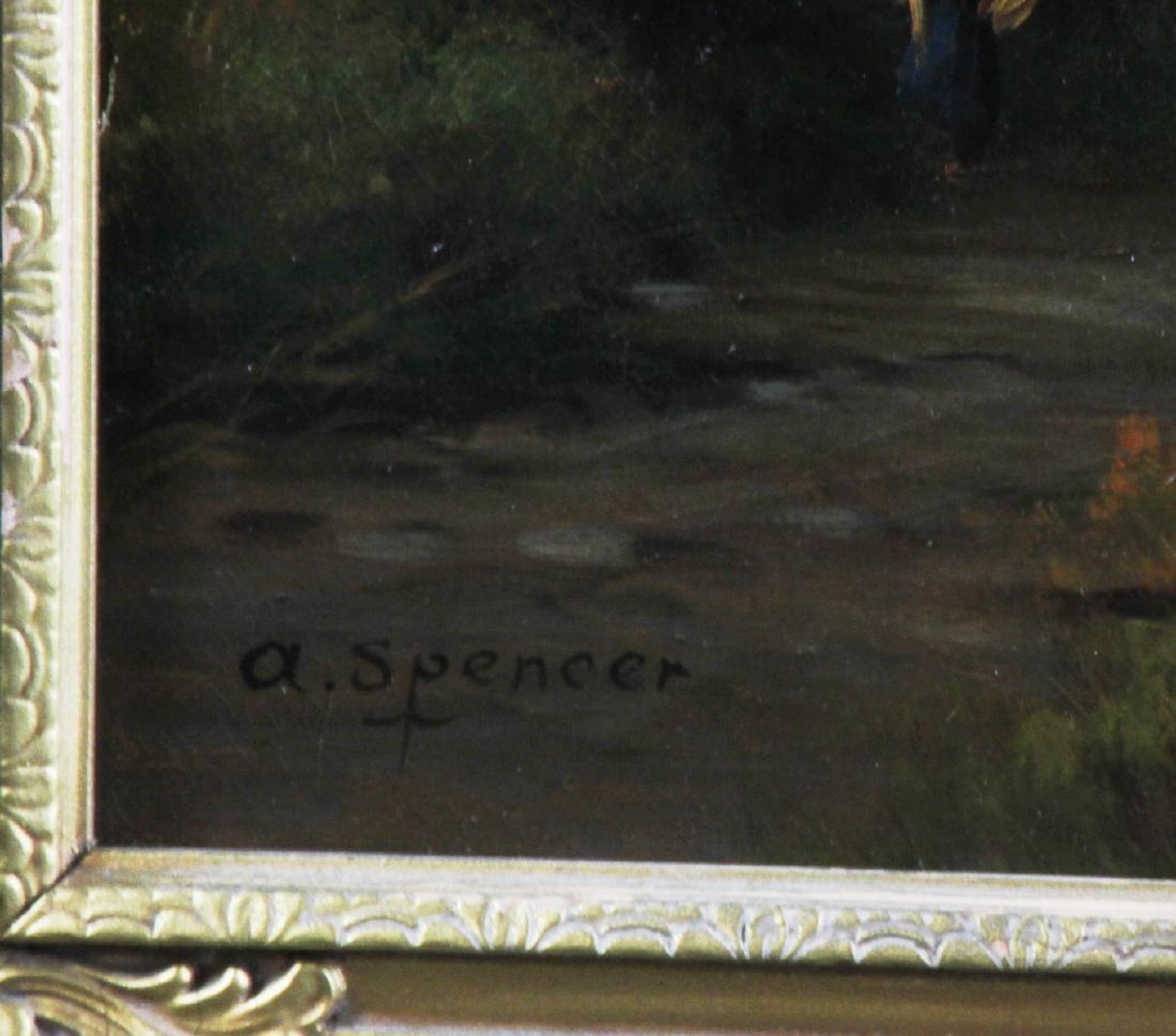 River Landscape, Oil on Canvas, Signed - 5