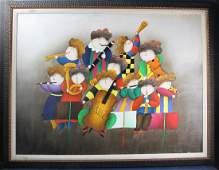 Joyce Roybal Childrens Band Oil on Canvas