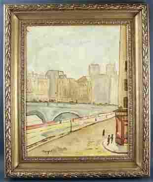 Albert Marquet, French Street Scene, Oil on Canvas