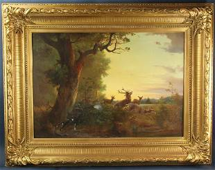 Signed A Tait, American School Painting