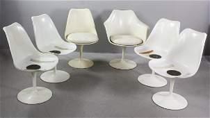 Set of Six Eero Saarinen Tulip Chairs