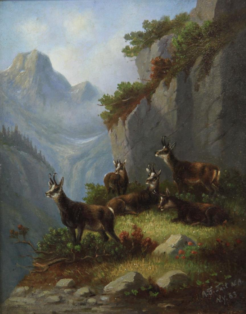 Signed A F Tait, Mountainside Goat Herd - 2