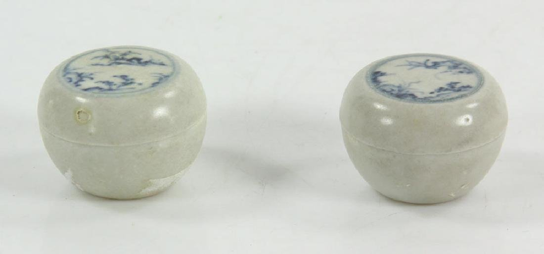 Two 15thC Vietnamese Porcelain Covered Boxes