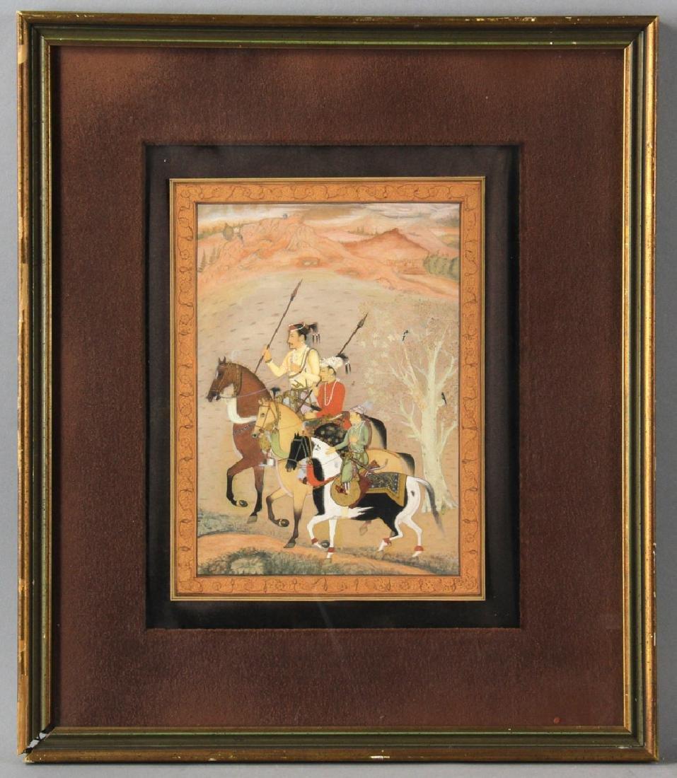 Persian or Indian Watercolor of Riders