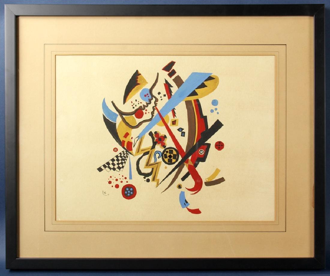 Kandinsky, Watercolor Abstract, Bears Initial K