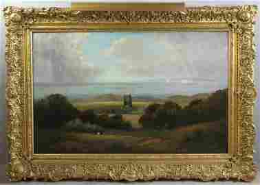 George Henry Bogert, Chale Church, Oil on Canvas