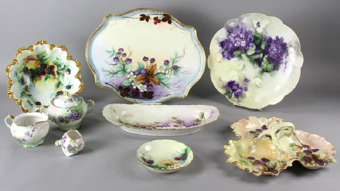 Group of Limoges and Bavarian Porcelain