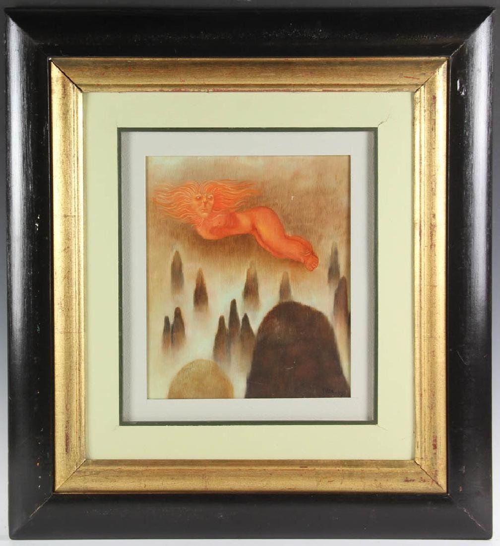 Tilsa Tsuchiya Signed, Flying Woman, Oil on Canvas