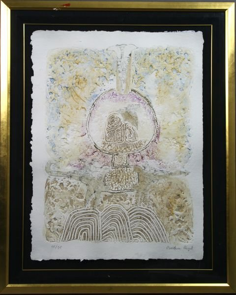 2008: Berthois Rigal, Colored Print, Sgnd. Numbered