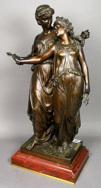 2016: Henri Etienne Dumaige, Bronze Statue, Sgnd.