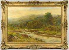 2061 Daniel Sherrin River Landscape OC Sgnd