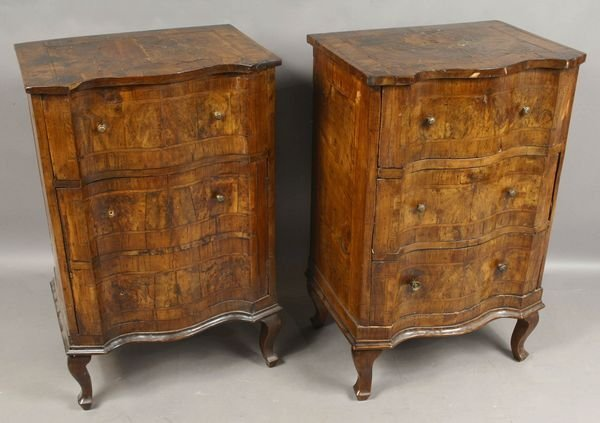 2110: 18th C. Italian Burlwood Cabinets