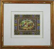 2127 19th20th C Persian Painting on Ivory