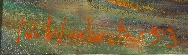 2130A: Sgnd. Ida Waslaske, Autumn Woods Scene, O/C - 4