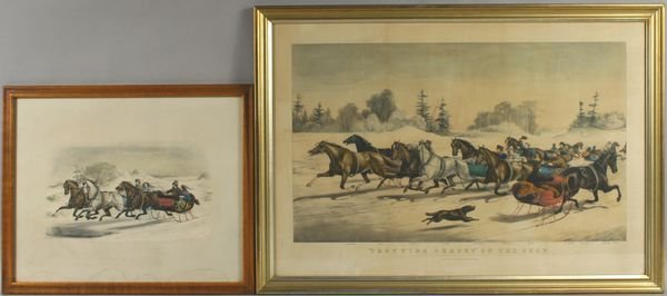2269: (2) Currier & Ives Winter Themes Prints