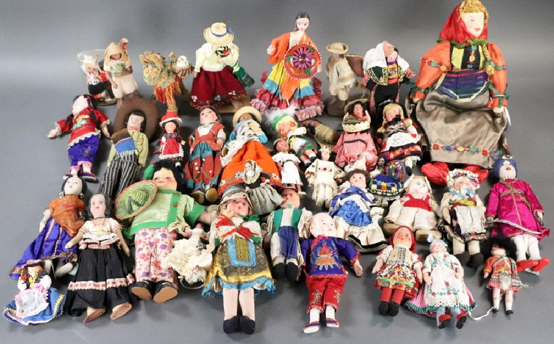 Collection of Vintage Dolls of the World