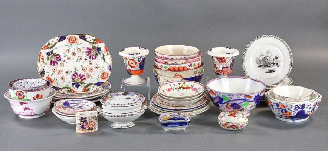 Group of 19th Century Polychrome Porcelain Pieces