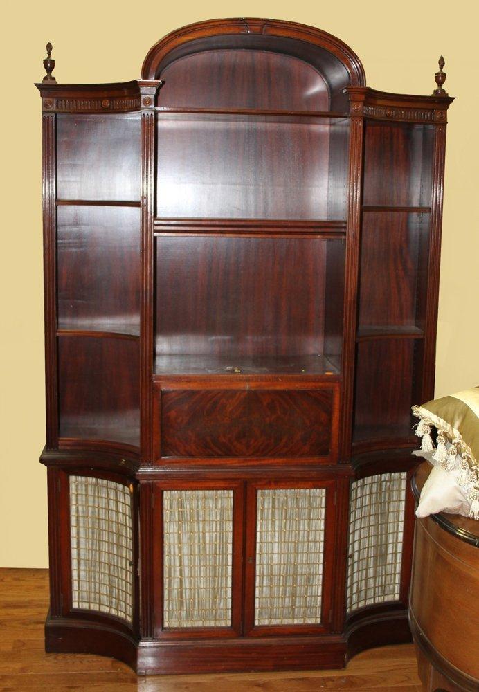 Federal Style Mahogany Bookcase Desk