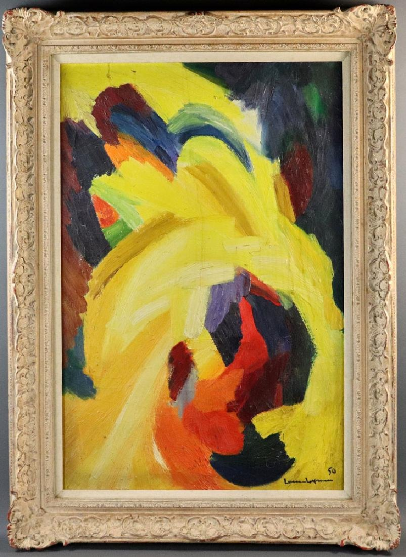 Hans Hofmann, Yellow Abstract, Oil on Canvas