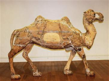 Rare Marcus Charles Illions Carved Carousel Camel