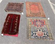 Four Persian Rugs, Caucasian, Baluchistan, etc