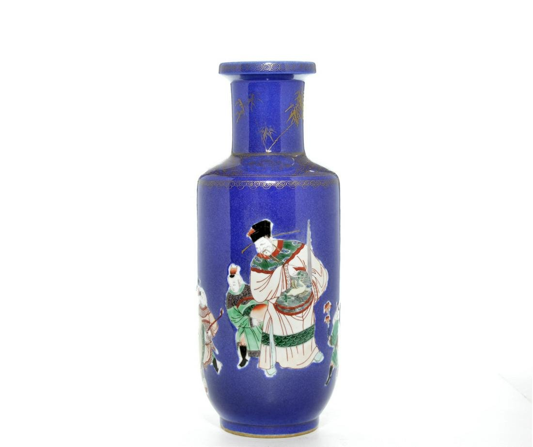 Rare Chinese Famille-Verte and Powder-Blue Porcelain