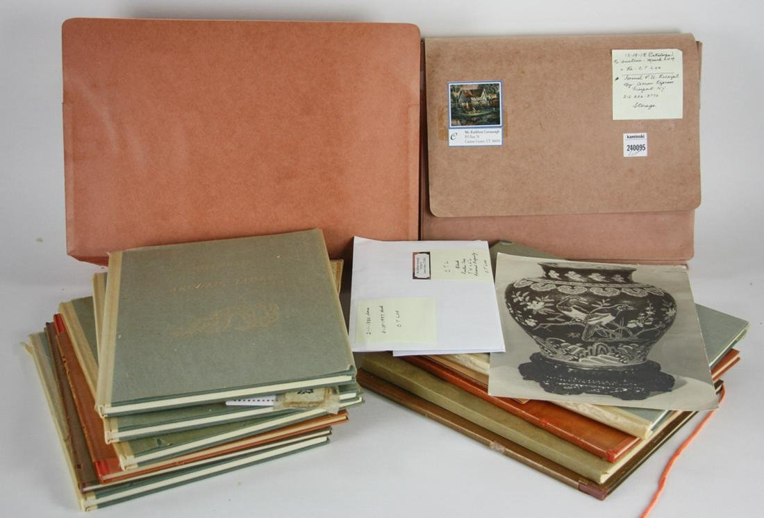 (12) Catalogues Owned by C.T. Loo, with Case