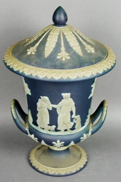 3001: Wedgewood Blue and White Coral Vase