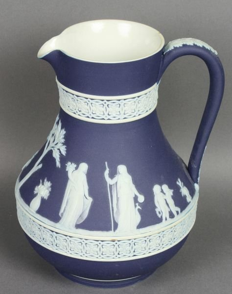 3002: Wedgewood Blue and White Pitcher