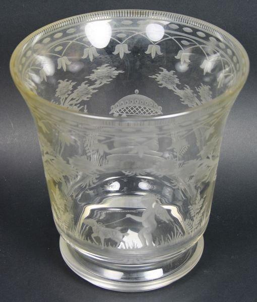 3005: Crystal Vase, Signed Greiner Paris, France