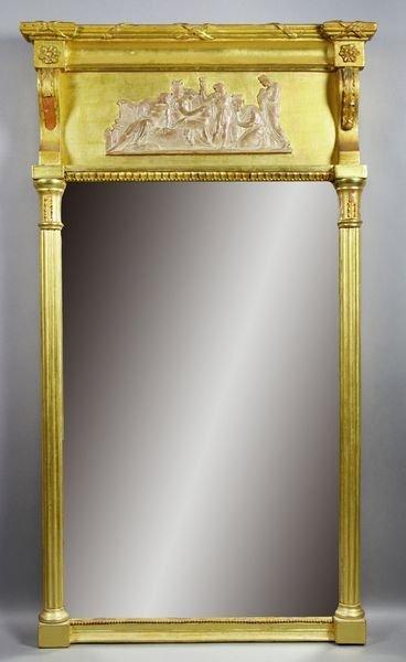 3013: 19th C. Classical Giltwood Mirror