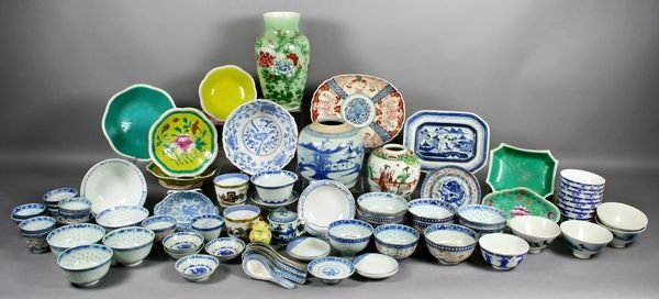 3021: Lrg. Collection of Imari, Few Pieces of Canton