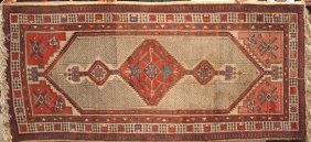 "Semi Antique Serab Rug, 7' 5"" X 3' 6"""