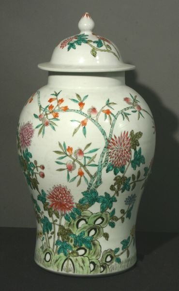 "3119: 19th/20th Century Chinese Covered Jar, 21"" x 13"""