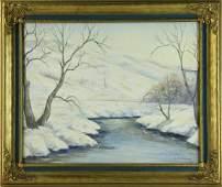 Aldro Hibbard, Winter Landscape, Oil on Board