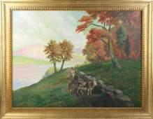 Joseph Randolph Brown Oil on Canvas